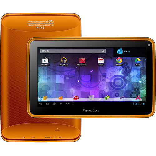"Visual Land Prestige 7"" Dual Core Tablet 8GB Orange"