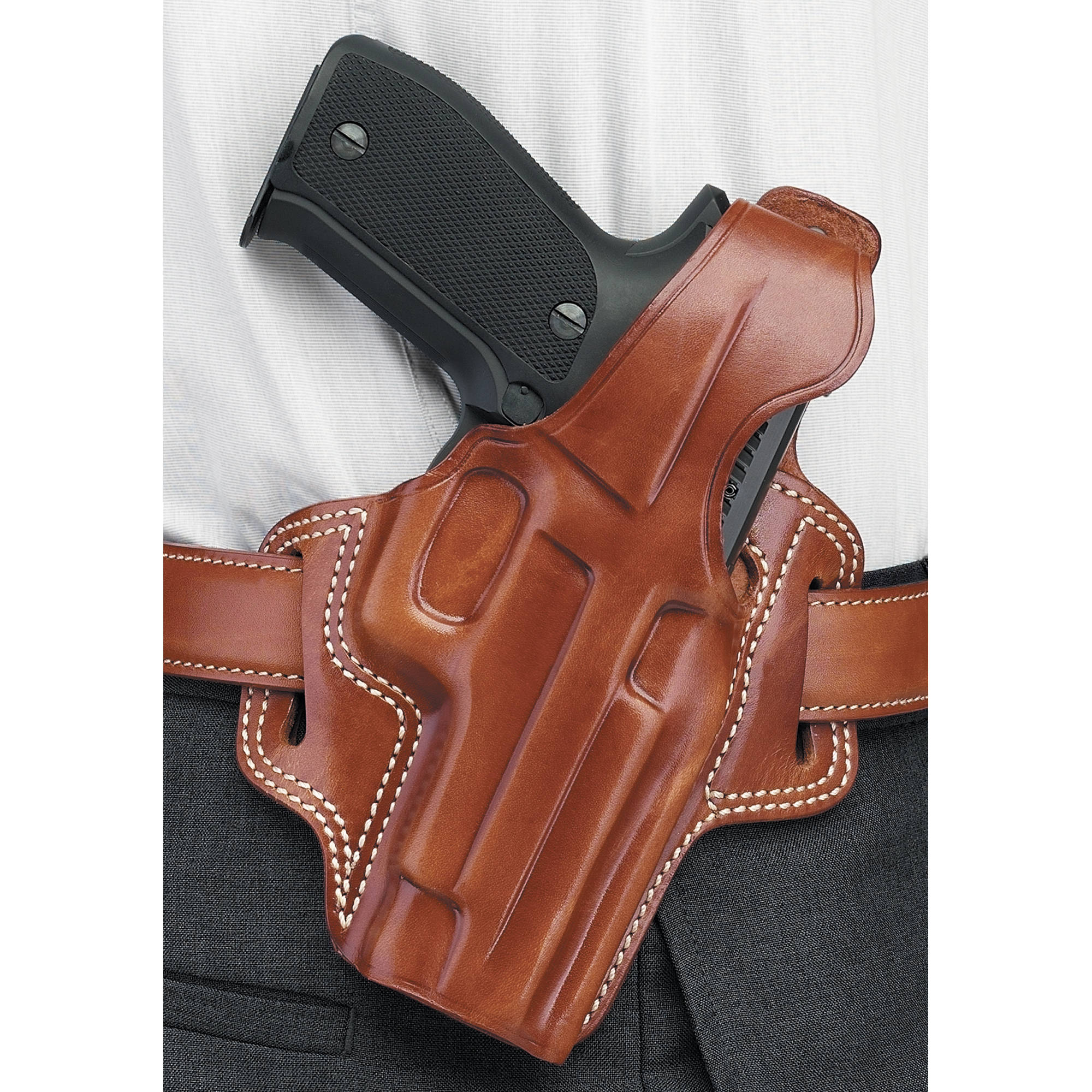 Galco Fletch Holster, Fits Glock 19 23, Right Hand, Tan Leather by Galco