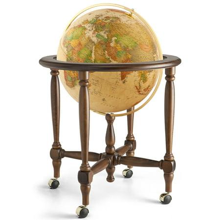 Waypoint Geographic Monaco Antique Oceans Floor Standing Globe