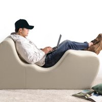 ZINUS Lotus Zero Gravity Chaise Lounger, Herringbone Oatmeal