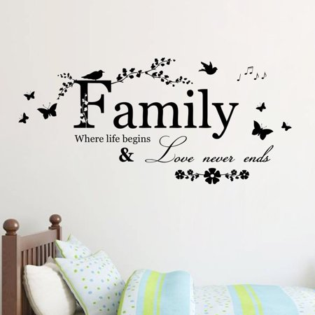 Family Letter Quote Removable Vinyl Decal Art Mural Home Decor Wall Stickers ()