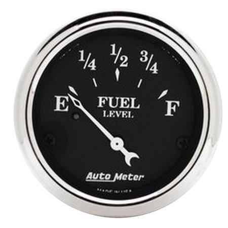 Autometer 1717 Old Tyme Black Fuel Level Gauge