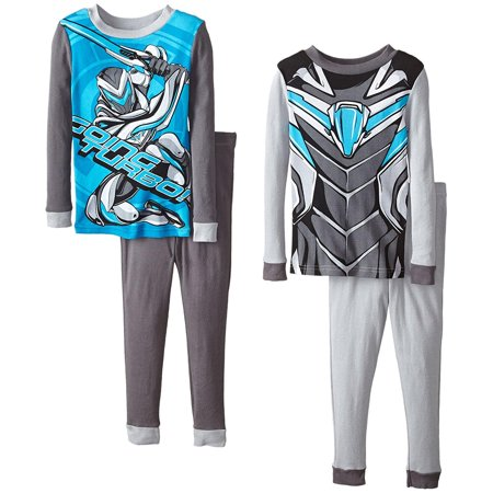 Mattel Big Boys' Max Steel  4 Piece Cotton Pajama Set, Sizes 4-8