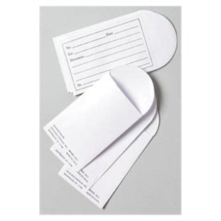 WP000-PT 4415 4415 Envelope Pill Printed Heavyweight White 2x3