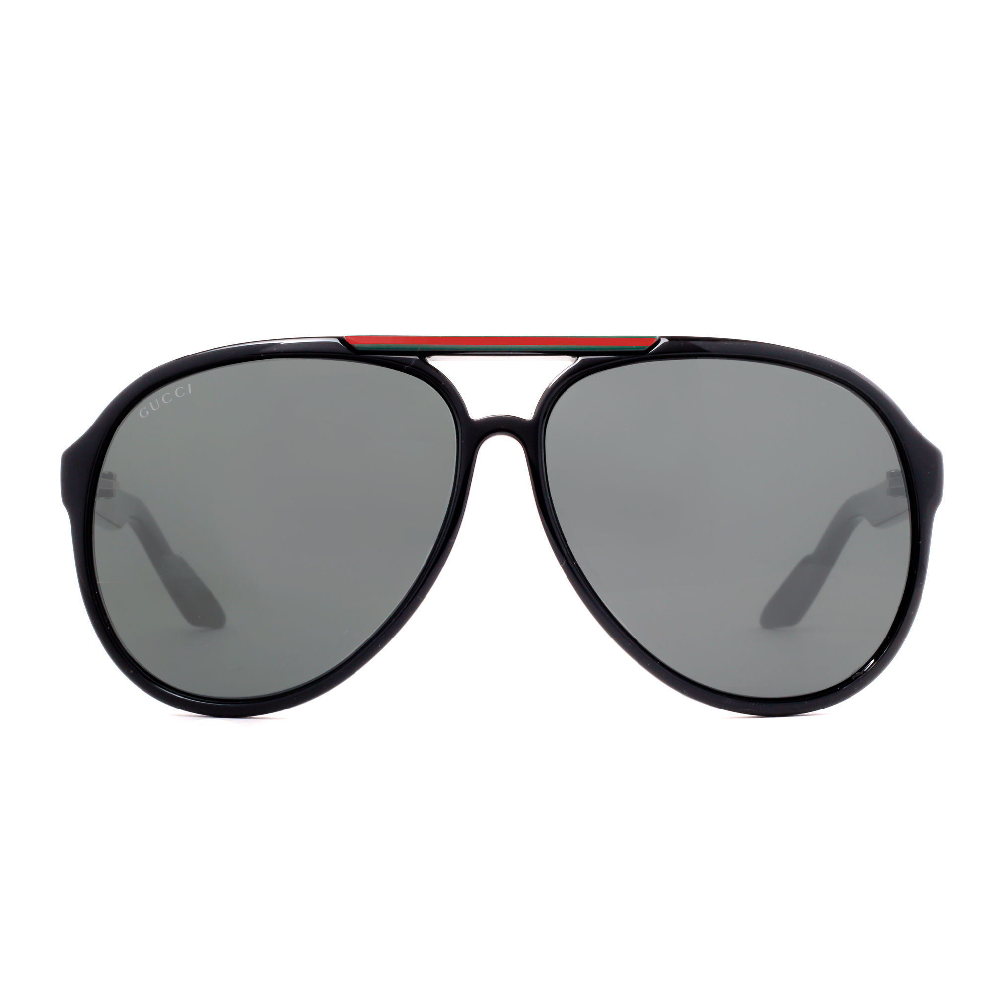 e98ccde8942 GUCCI - Gucci GG 1627 S D28 R6 Shiny Black Grey Aviator Sunglasses -  Walmart.com