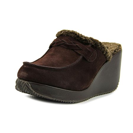 Volatile Marvelous Women  Round Toe Suede Brown Clogs ()
