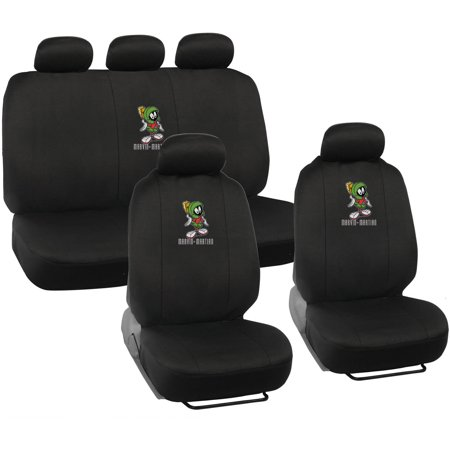 Warner Brothers Marvin the Martian Seat Covers for Car, Looney Tunes Auto Accessories, Universal Fit - The Walking Dead Car Accessories