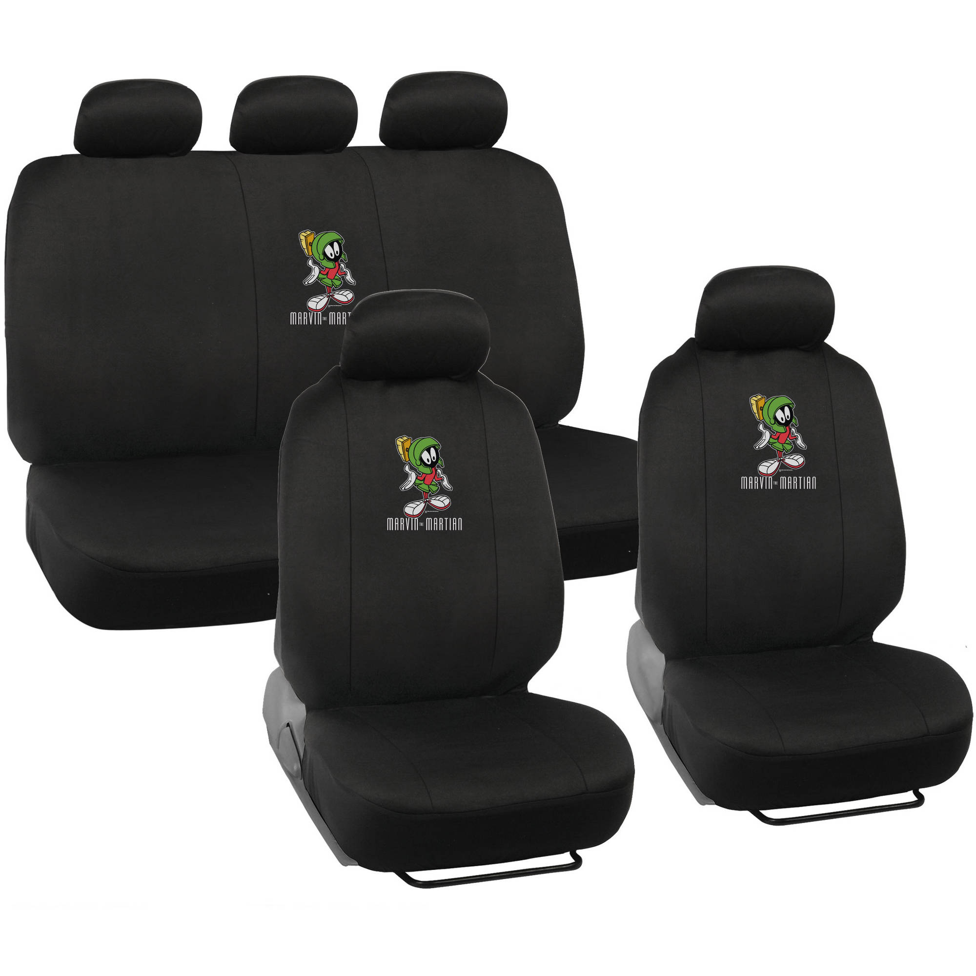 Warner Brothers Marvin the Martian Seat Covers for Car, Looney Tunes Auto Accessories, Universal Fit