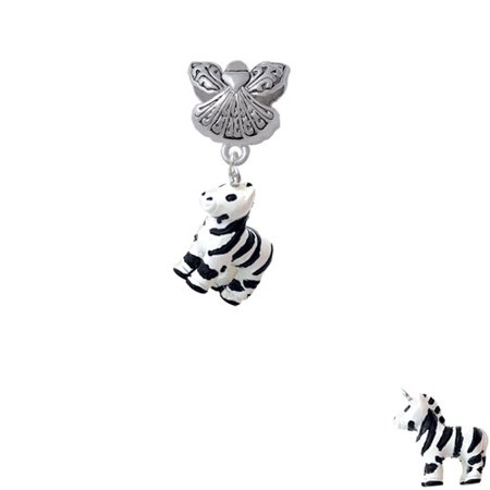 Resin Zebra   Guardian Angel Charm Bead
