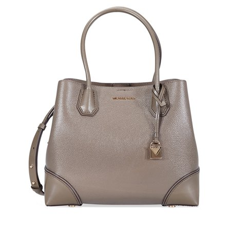 58a548954138 Michael Kors - Michael Kors Mercer Gallery Medium Leather Satchel- Mushroom  - Walmart.com