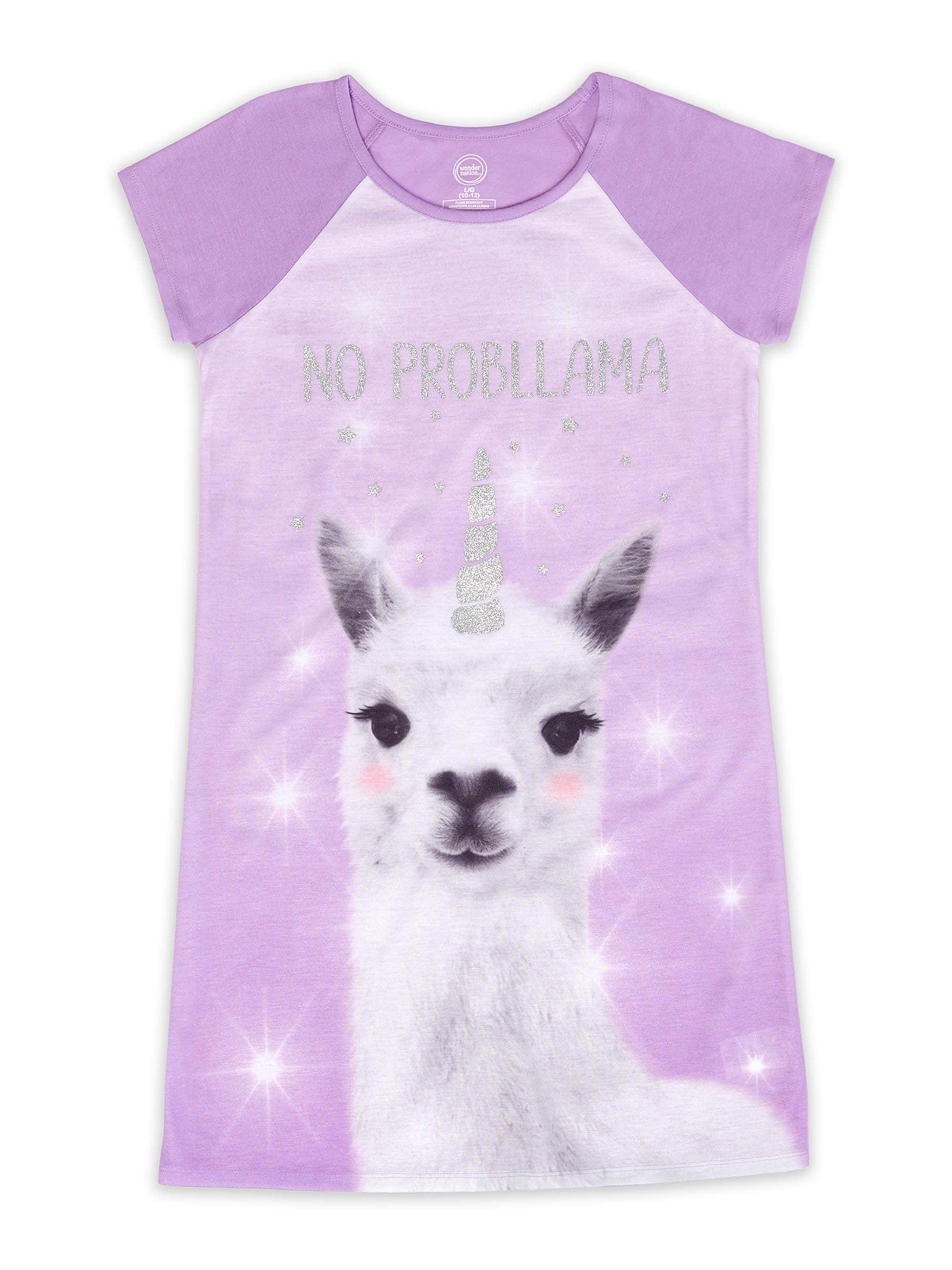 Sleep On It Girls Space Llamacorn Hooded 1-Piece Pajamas