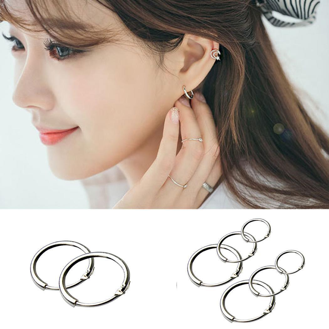 113c39731 Round Small Sleeper Hoops Earrings 3 Pairs Earrings Hoop 8mm ...