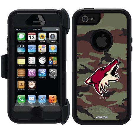 Phoenix Coyotes Traditional Camo Design on OtterBox Defender Series Case for Apple iPhone 5 5s by