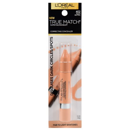 L'Oreal Paris True Match Super Blendable Color Correcting Concealer Peach Neutral, 0.1