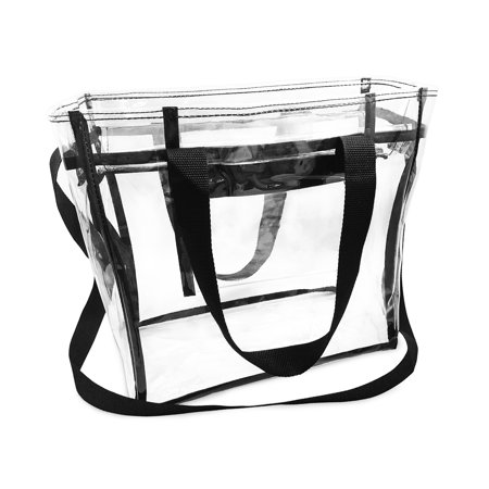 Nova Sport Wear Largest Stadium Security Approved Clear Bag with Handles/Adjustable Strap / 12x12x6 / Transparent Gameday NFL Tote for Men and Women