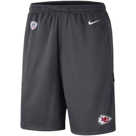 Kansas City Chiefs Nike Sideline Coaches Performance Shorts - - City Life Charcoal