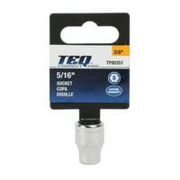 "TEQ Correct Professional 3/8"" Drive 6-Point Standard Socket 5/16"""