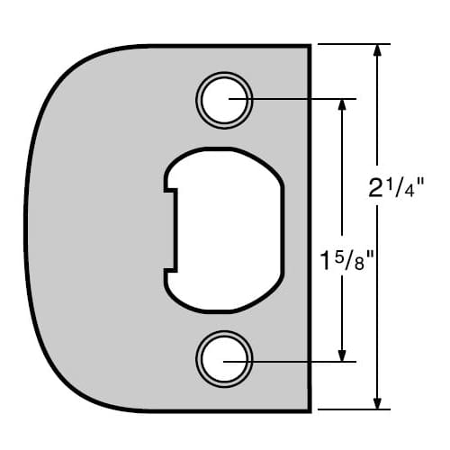 Kwikset 83437 Full Lip Square Corner Strike