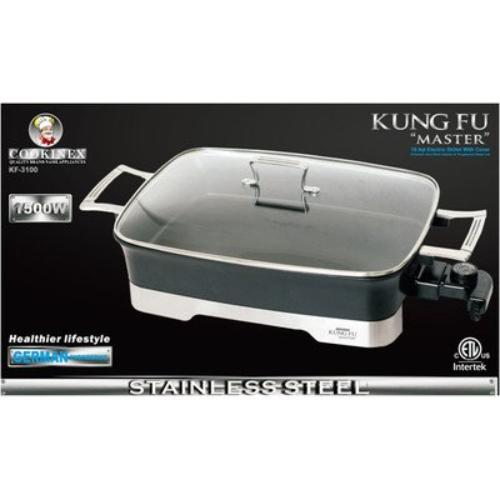 Kung Fu Master KF3100 10.5 Qt Electric Skillet With Cover