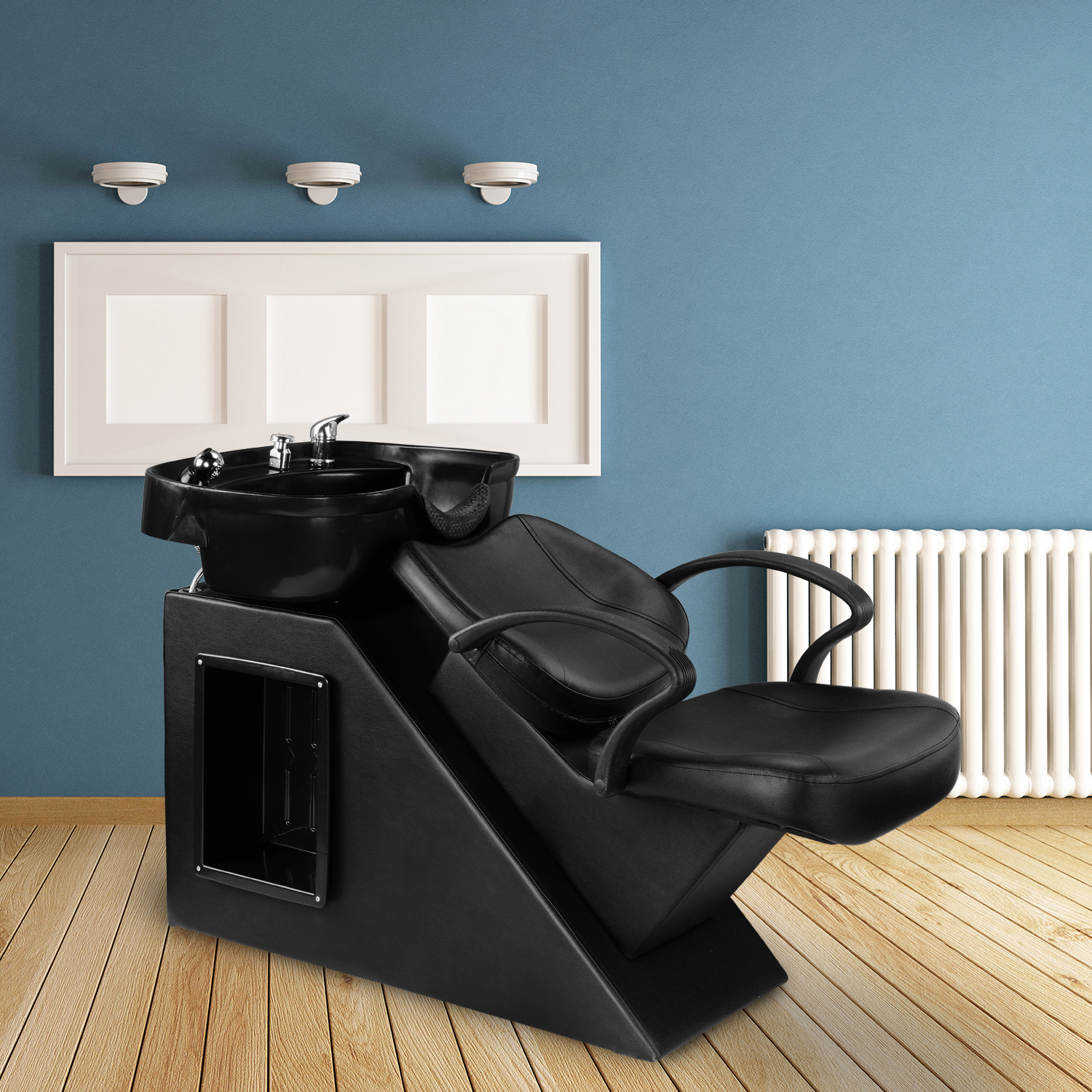 Ainfox Salon Backwash Barber Chair Shampoo Chair  Beauty Spa Equipment