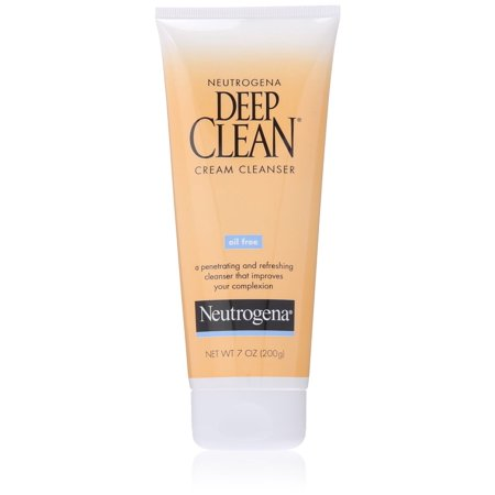 Neutrogena Deep Clean Cream Cleanser, Oil Free 7 oz (200 (Neutrogena Oil Free Cream Cleanser)