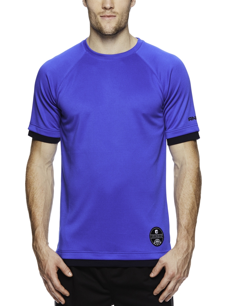 AND1 Big Men's Drop a Dime Performance Short Sleeve Tee