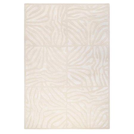 5' x 8' Burchelli Zebra Chain Parchment Wool Area Throw Rug