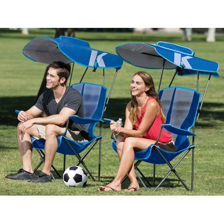 Astonishing Kelsyus Premium Portable Camping Folding Lawn Chair With Canopy Blue 80185 Uwap Interior Chair Design Uwaporg