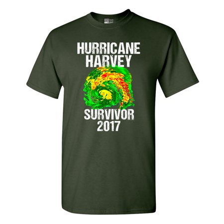 Hurricane Harvey Storm Survivor Houston Texas 2017 DT Adult T-Shirt Tee - Texas Tech 2017 Halloween