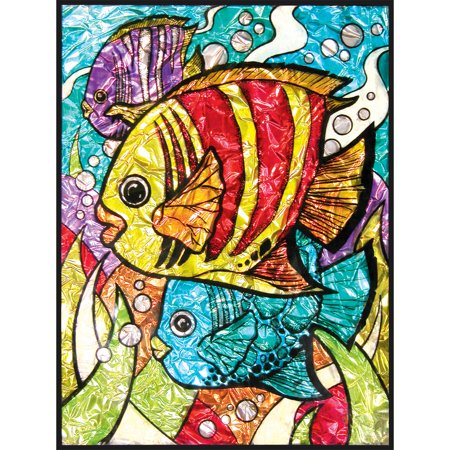 Foil Angel Fish - Royal Brush Tropical Fish Foil Paint-by-Number Kit