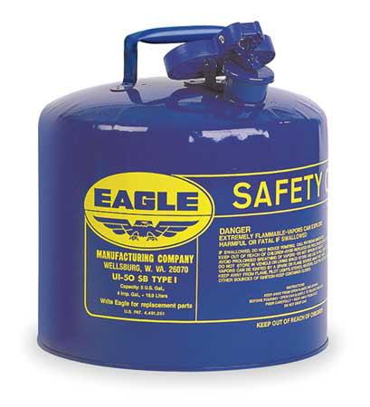 5 gal. Blue Galvanized Steel Type I Safety Can, For Kerosene EAGLE UI-50-SB