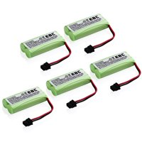 EBL 5-Pack 2.4V 900mAh Replacement Battery for Uniden BT-1008 BT 1016 BT-1008S DCX200 Ni-MH Batteries