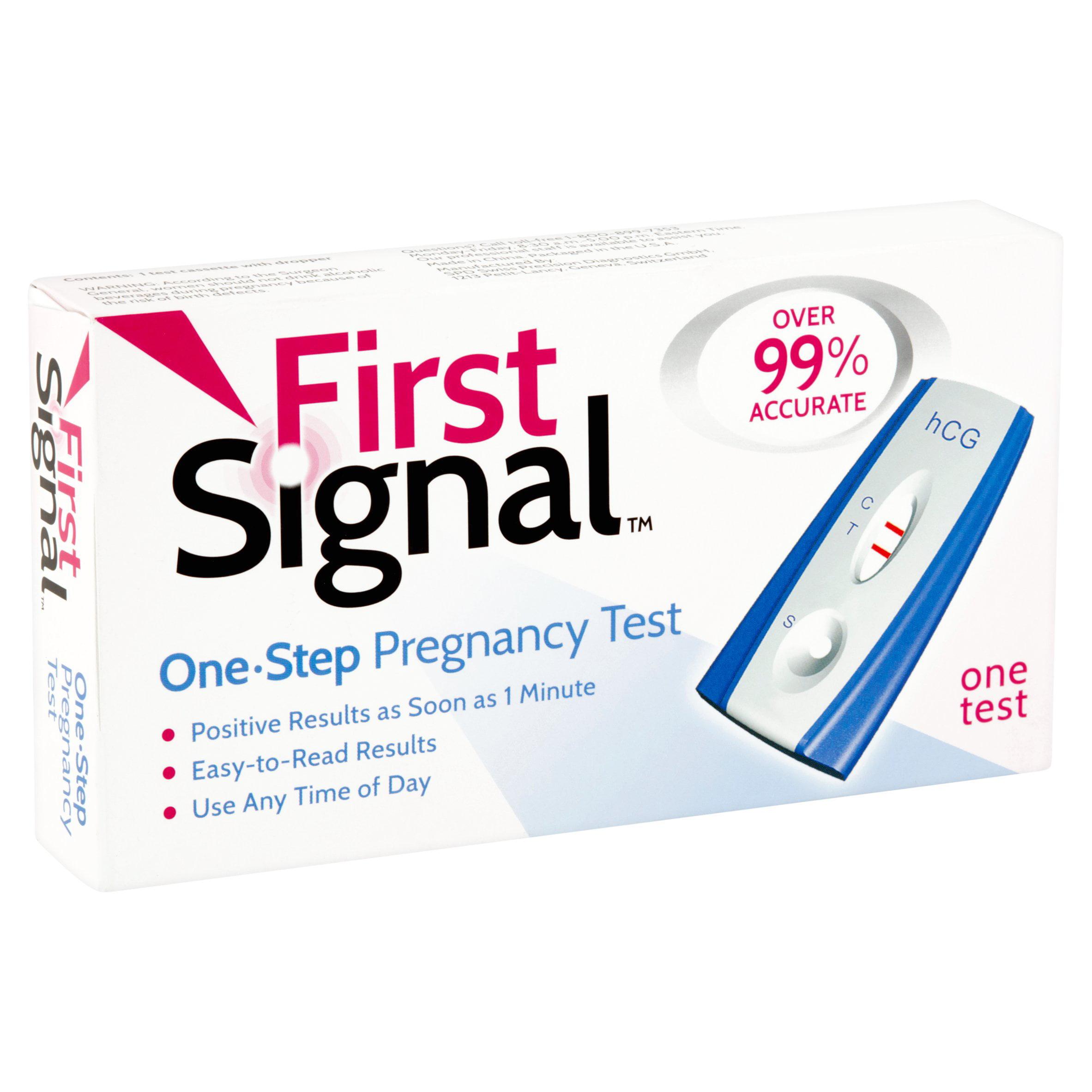 First Signal One-Step Pregnancy Test - Walmart com