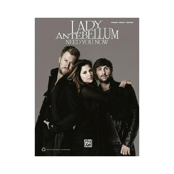Hal Leonard Lady Antebellum Need You Now Pvc Book Walmart