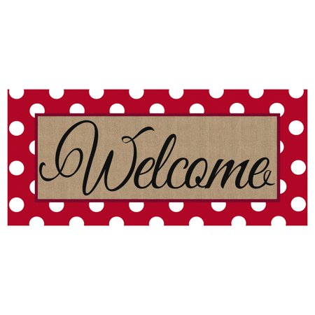 Evergreen Flag Sassafras Polka-Dot Welcome Switch Mat Insert Floor Mat Switch