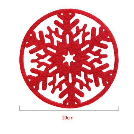 Flying Outlets 8pcs Christmas Atmosphere Snow Shape Coaster Table Decoration Nonwoven Fabric Felt Cup Mat](Snow Themed Decorations)