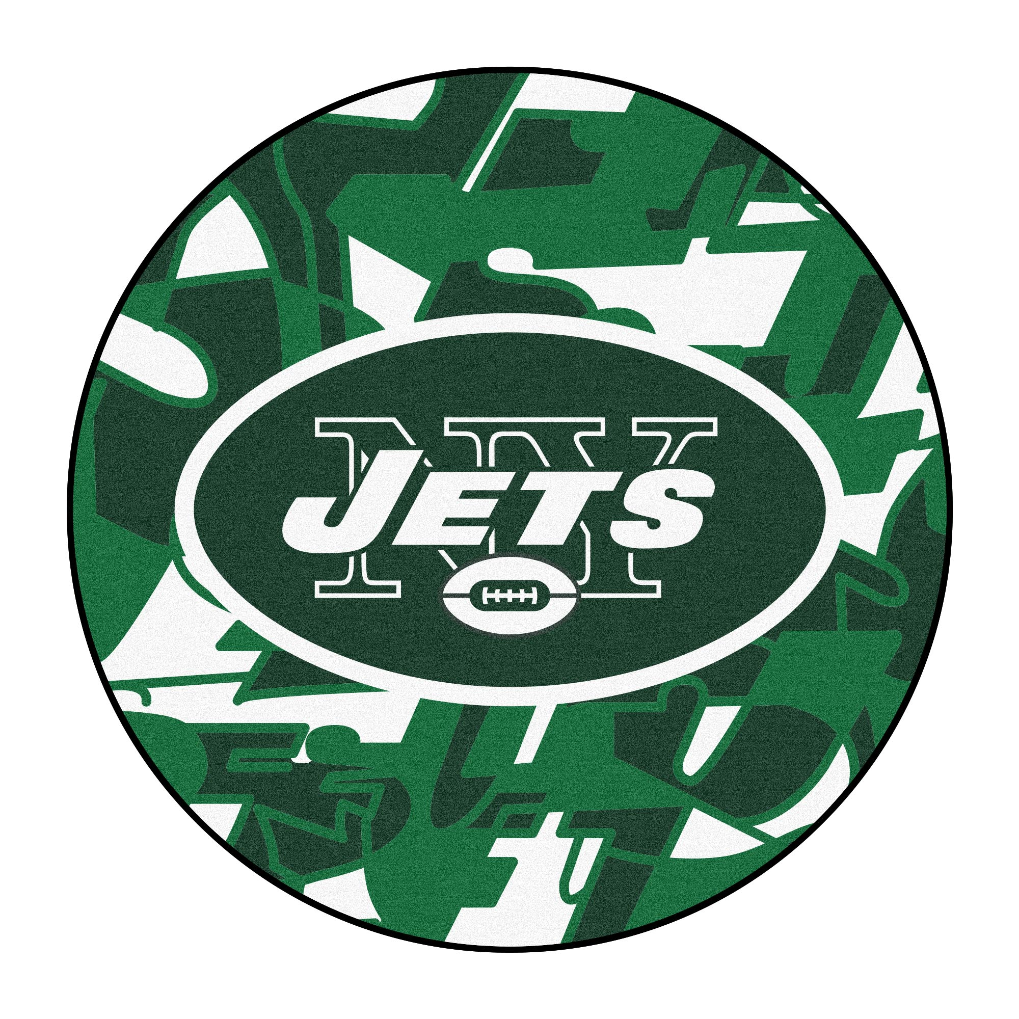 NFL New York Jets Rounded Non-Skid Mat Area Rug