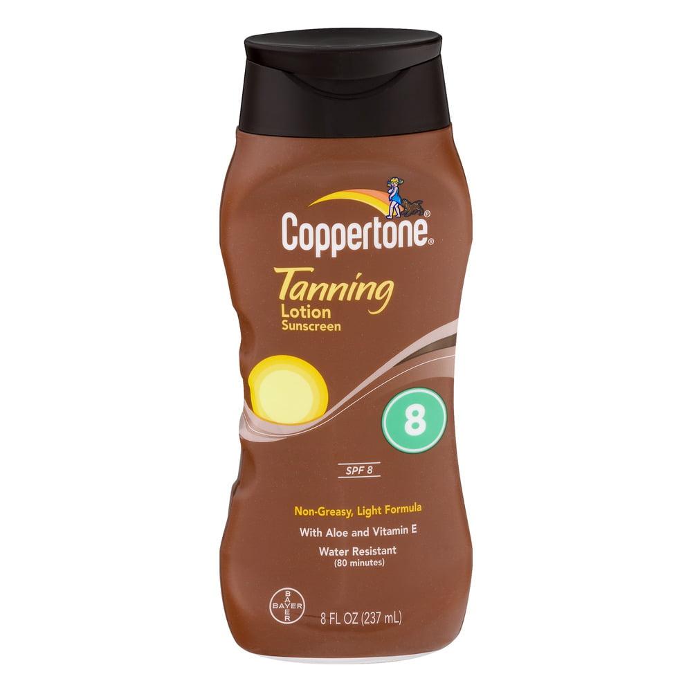 Coppertone Tanning Lotion Sunscreen SPF 8, 8.0 FL OZ