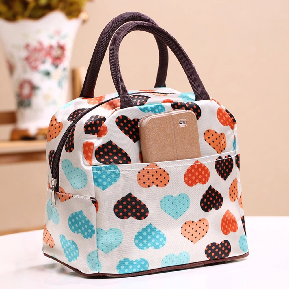 Women Man Insulated Lunch Bag Tote Thermal Cooler Picnic Travel Food Box Handbag