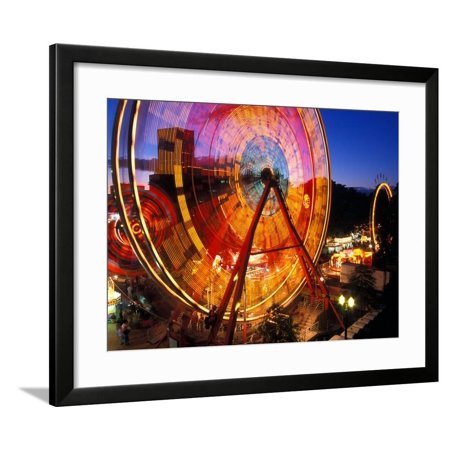 Ferris Wheel in the Family Fun Center at Waterfront Park, Portland, Oregon, USA Framed Print Wall Art By Janis Miglavs](Family Fun Center Omaha)