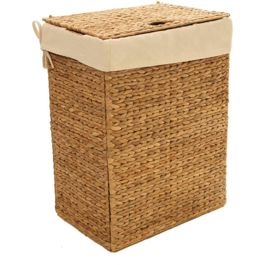 Seville Classics Foldable Water Hyacinth Portable Hamper by Seville Classics