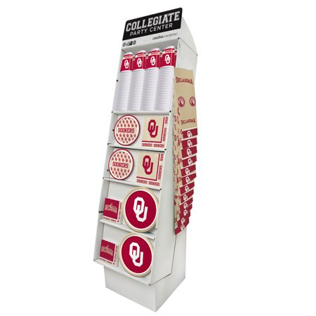 Univ of Oklahoma 126 Pk Collegiate Tableware Floor Display - Halloween Stores In Oklahoma