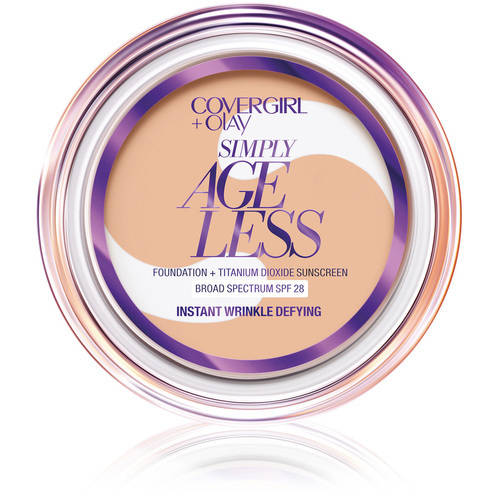CoverGirl & Olay Simply Ageless Instant Wrinkle Defying Foundation Buff Beige, 0.4 Oz