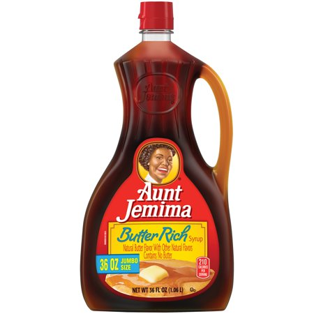 (2 Pack) Aunt Jemima Butter Rich Syrup, Jumbo Size, 36 fl