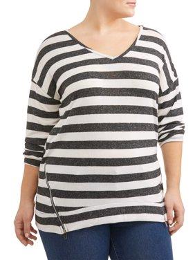 837b5bf70755 Women s Plus-Size Cardigans and Sweaters - Walmart.com - Walmart.com