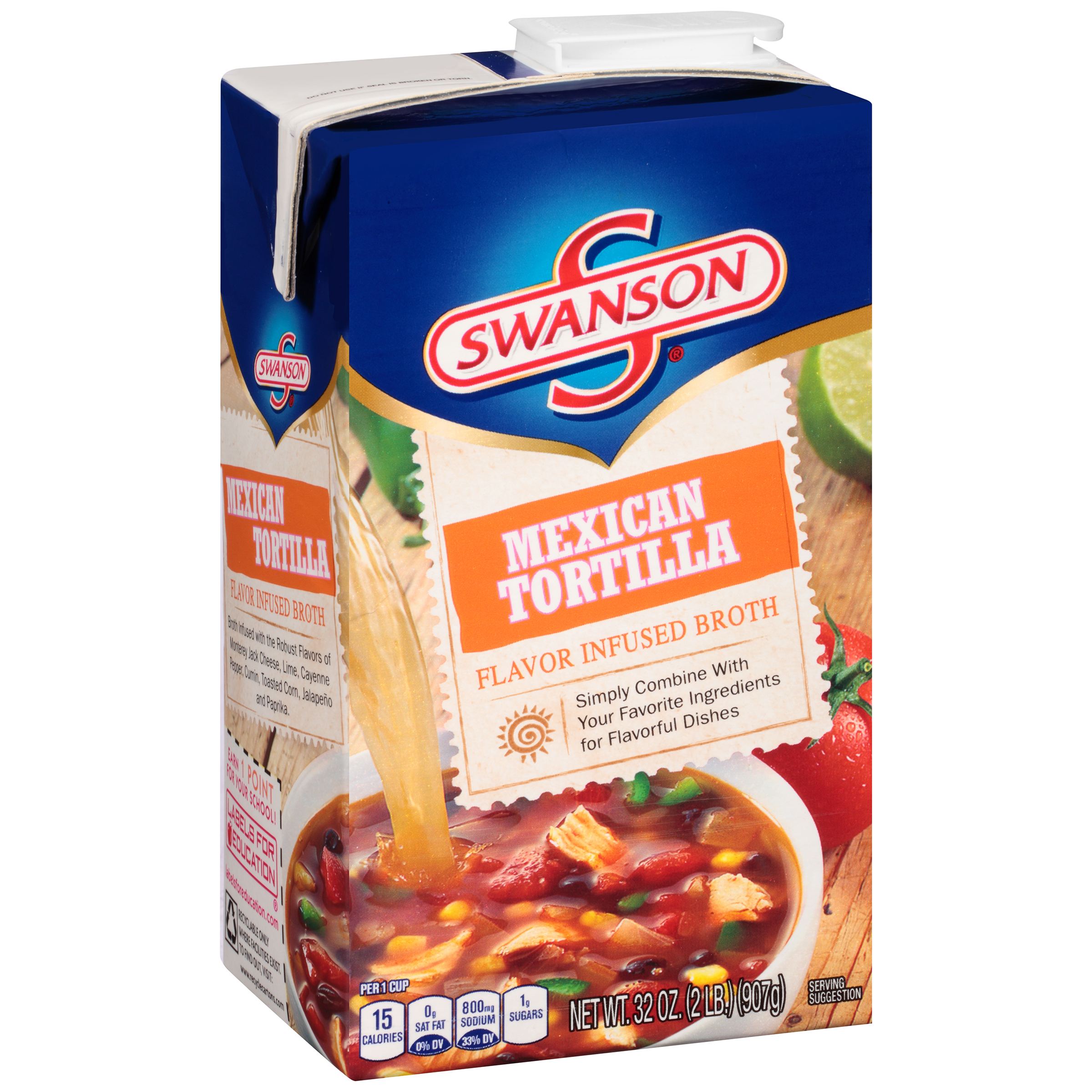 Swanson Mexican Tortilla Flavor Infused Broth 32oz