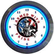 Neonetics Armed with Pride Firearms 15'' Wall Clock