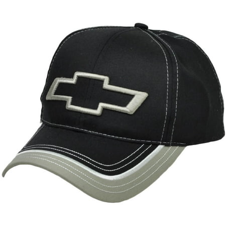 Chevrolet General Motors Car Gmc Black Gray Automobile Hat Cap Racing Adjustable