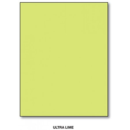 Orange Printing (Ultra Lime - 8.5 X 11 Inches Bright Color Paper,100 Sheets Per Pack)