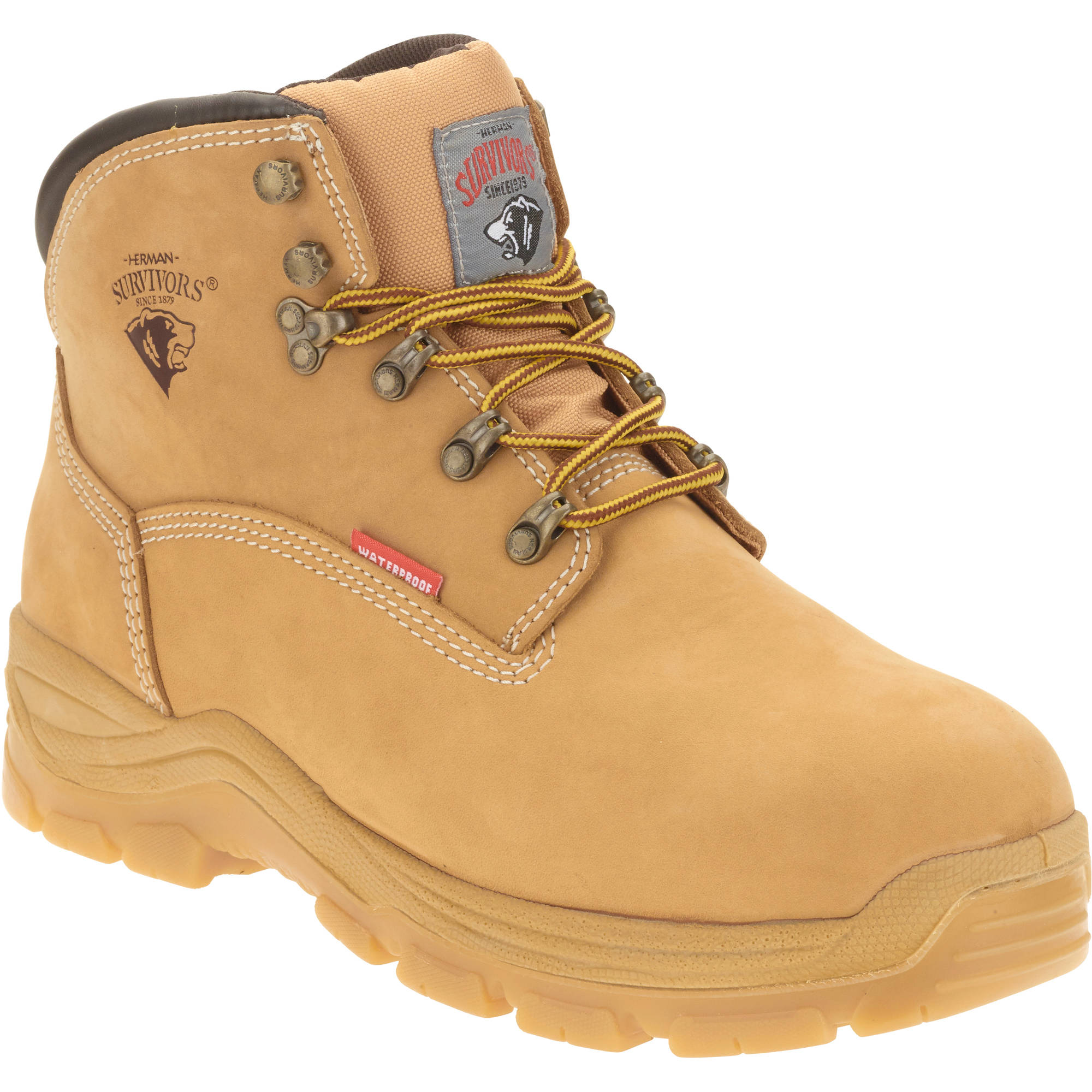 """Herman Survivor Men's Breaker Steel Toe Waterproof 6"""" Work Boot"""